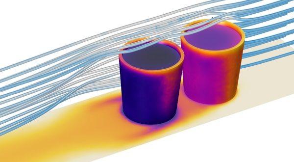 Řez geometrií, Simulace v programu COMSOL Multiphysics, (c) Humusoft