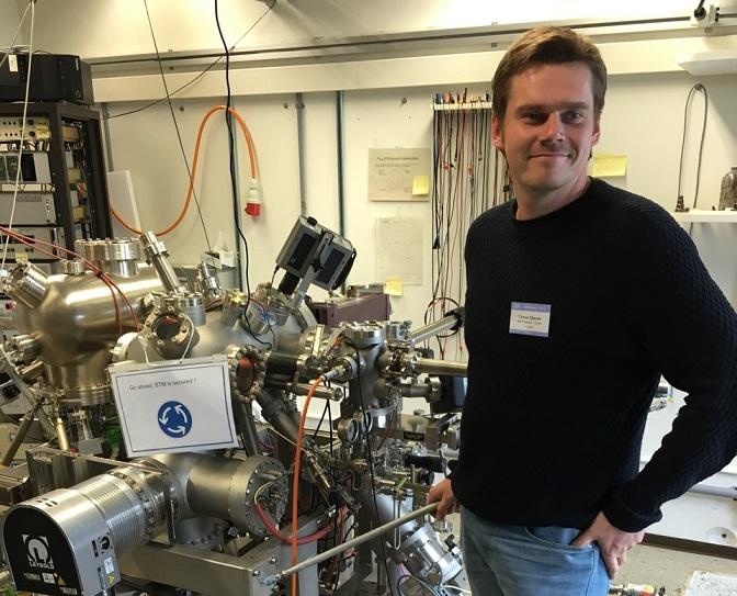 Slovák Tomáš Skeren, IBM Research, který zkoumá P-dopování křemíku bórem. Vyšla ztoho tunelová dioda.